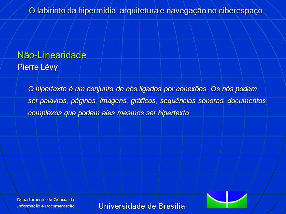 Universidade de Brasília O labirinto da hipermídia: arquitetura e navegação no ciberespaço Departamento de Ciência da Informação e Documentação Não-Li