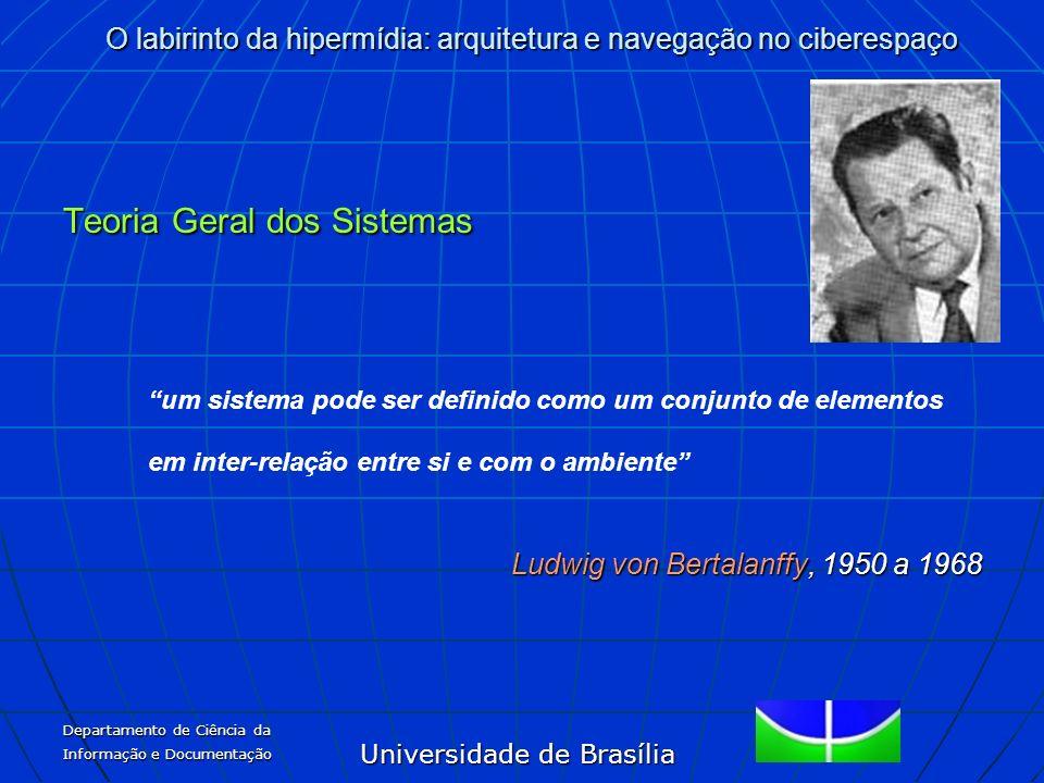 Universidade de Brasília O labirinto da hipermídia: arquitetura e navegação no ciberespaço Departamento de Ciência da Informação e Documentação Teoria