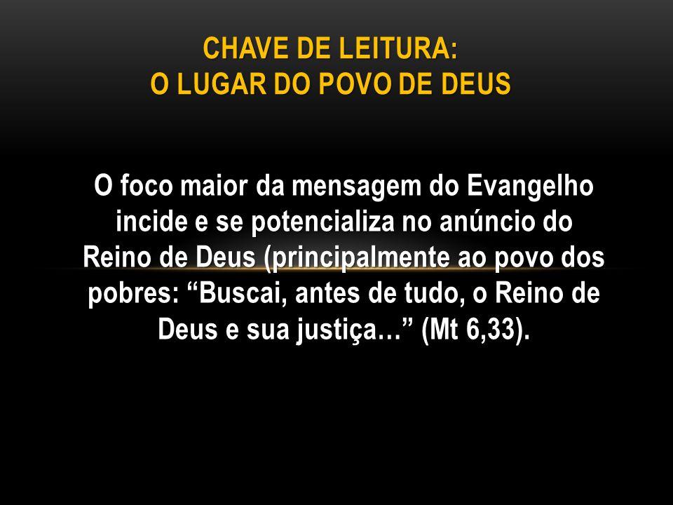 O foco maior da mensagem do Evangelho incide e se potencializa no anúncio do Reino de Deus (principalmente ao povo dos pobres: Buscai, antes de tudo,