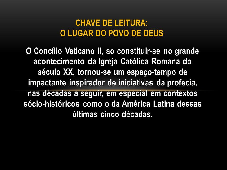 O Concílio Vaticano II, ao constituir-se no grande acontecimento da Igreja Católica Romana do século XX, tornou-se um espaço-tempo de impactante inspi