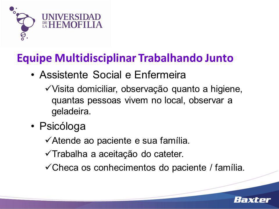 Equipe Multidisciplinar Trabalhando Junto Assistente Social e Enfermeira Visita domiciliar, observação quanto a higiene, quantas pessoas vivem no loca