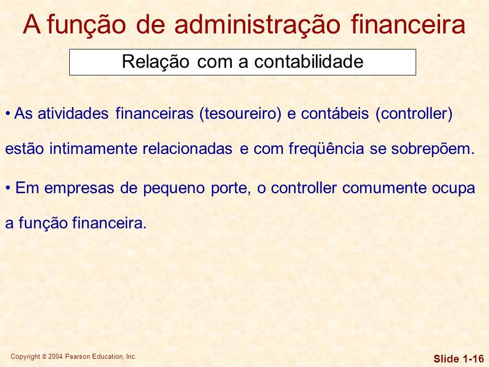 Copyright © 2004 Pearson Education, Inc. Slide 1-15 A função de administração financeira O princípio econômico fundamental usado pelos administradores
