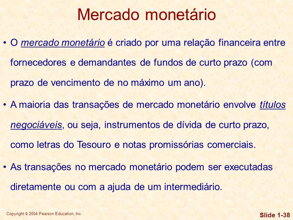 Copyright © 2004 Pearson Education, Inc. Slide 1-37 Relação entre instituições financeiras e mercados financeiros