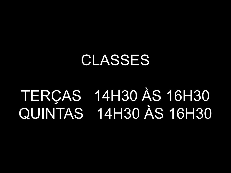 CLASSES ESPECIAL 25+ SÁBADOS 16H30 ÀS 18H30