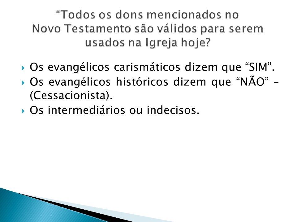 Os evangélicos carismáticos dizem que SIM. Os evangélicos históricos dizem que NÃO – (Cessacionista). Os intermediários ou indecisos.