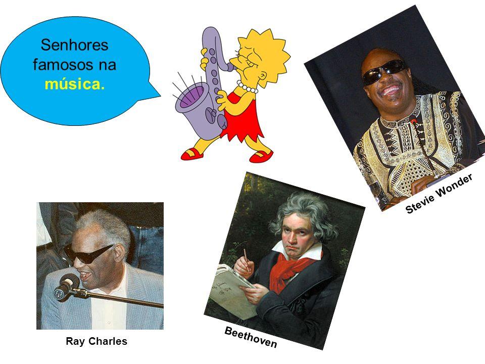 Ray Charles Beethoven Senhores famosos na música. Stevie Wonder