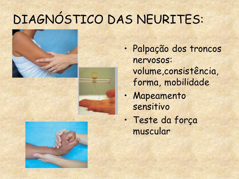 Momento do Dx: dor no trajeto do nervo e/ou alt.sensibilidade e/ou alt.