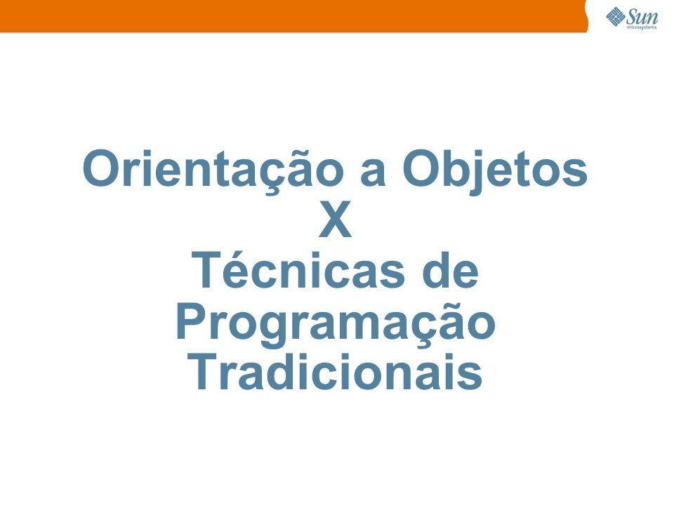 Orientação a Objetos X Técnicas de Programação Tradicionais