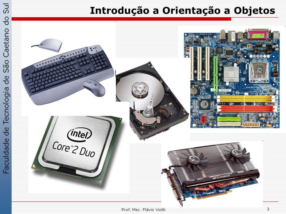 Faculdade de Tecnologia de São Caetano do Sul 3 Prof. Msc. Flávio Viotti Introdução a Orientação a Objetos