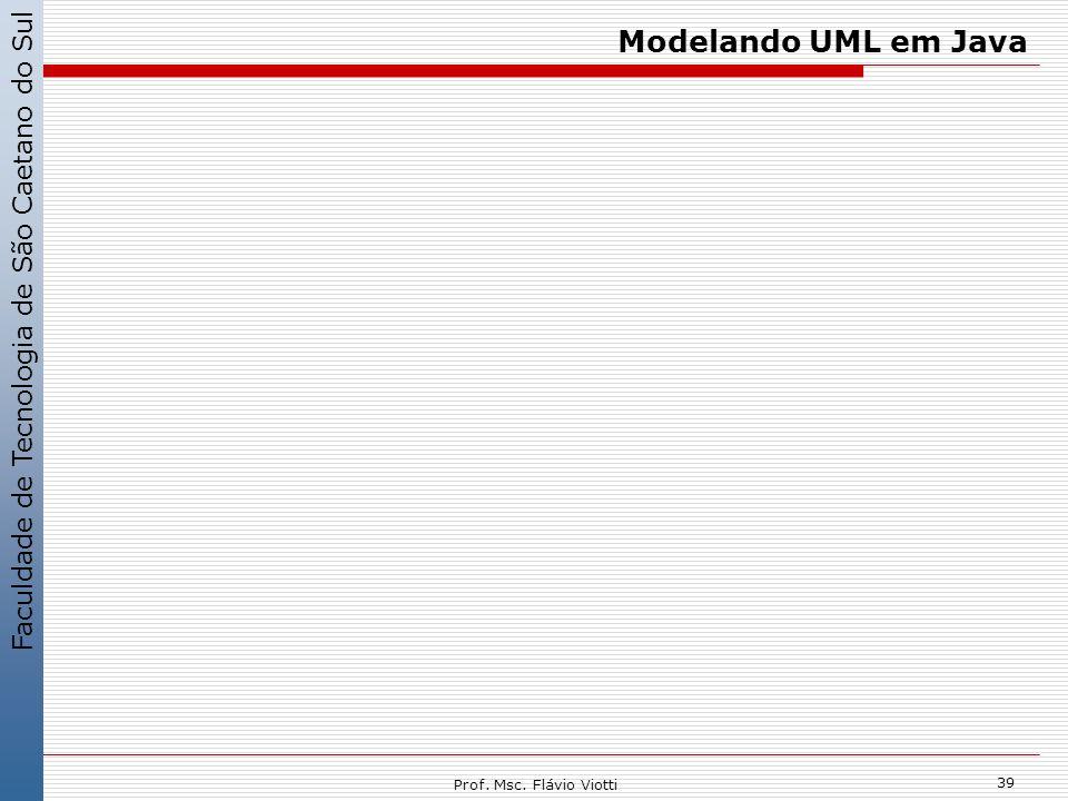 Faculdade de Tecnologia de São Caetano do Sul 39 Prof. Msc. Flávio Viotti Modelando UML em Java
