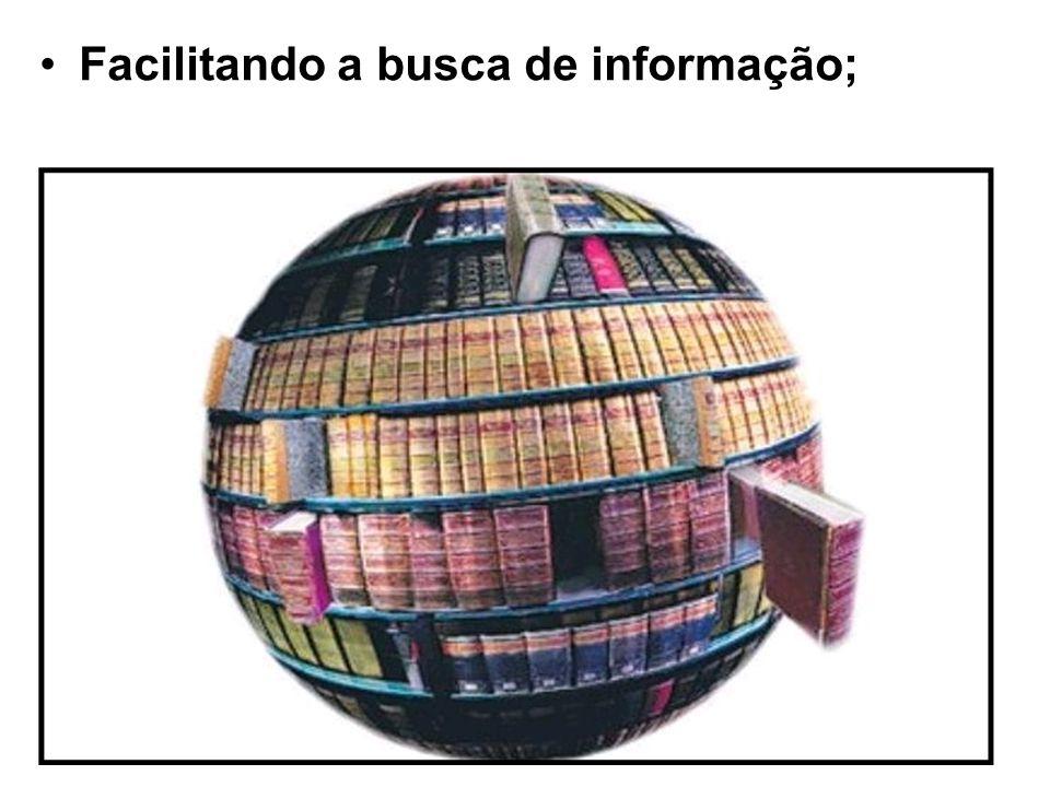 Facilitando a busca de informação;
