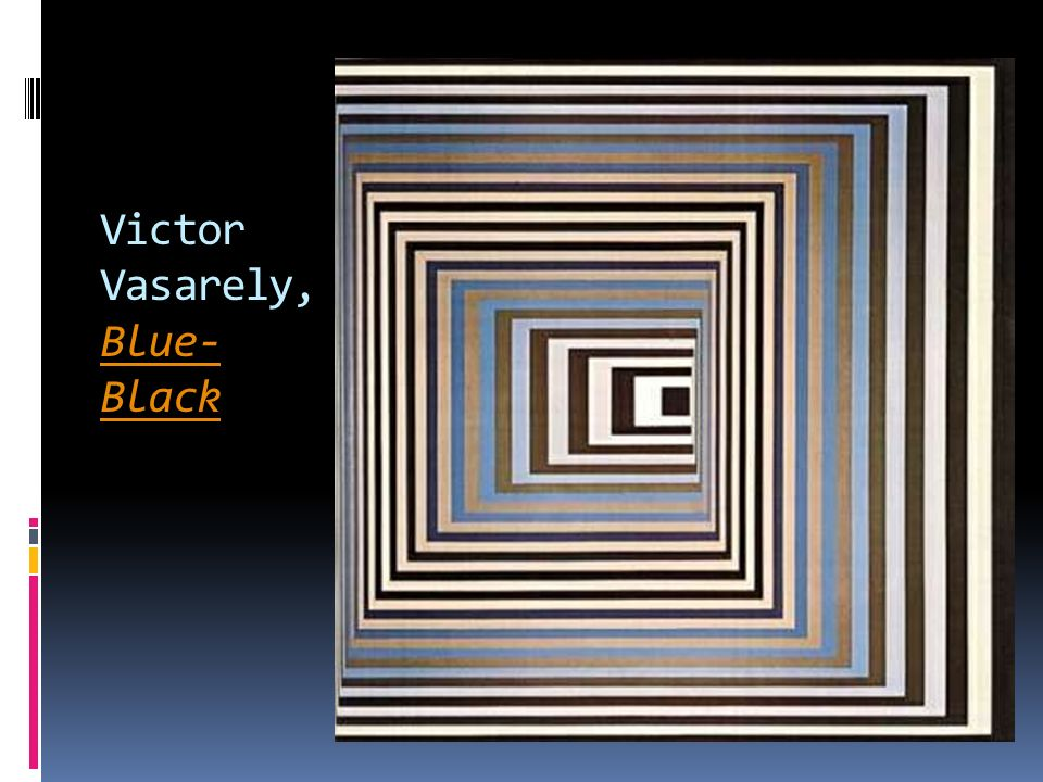Victor Vasarely, Blue- Black Blue- Black