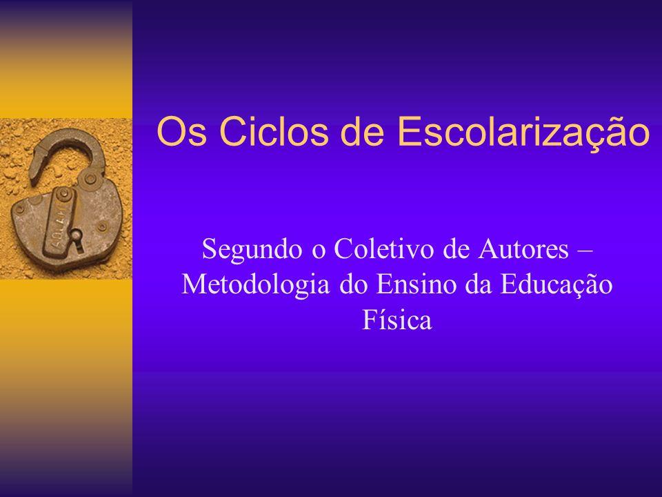 Os Ciclos de Escolarização Segundo o Coletivo de Autores – Metodologia do Ensino da Educação Física