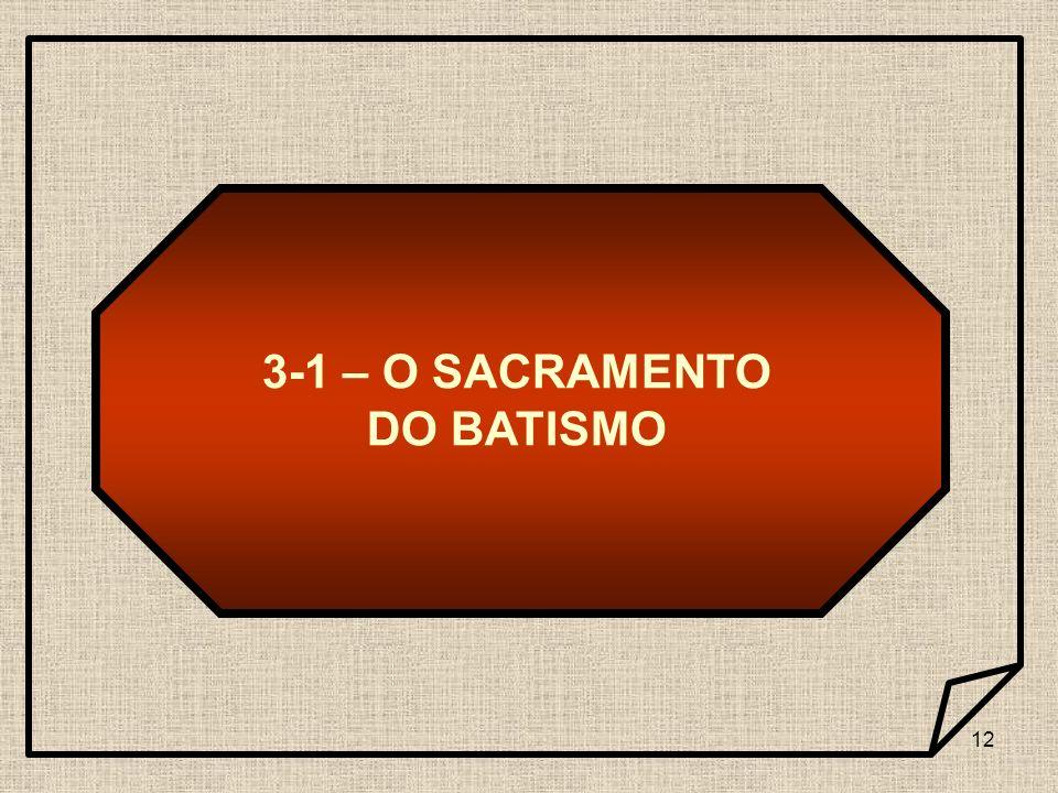 12 3-1 – O SACRAMENTO DO BATISMO