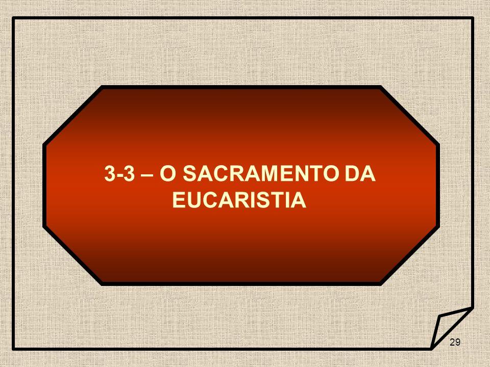 29 3-3 – O SACRAMENTO DA EUCARISTIA