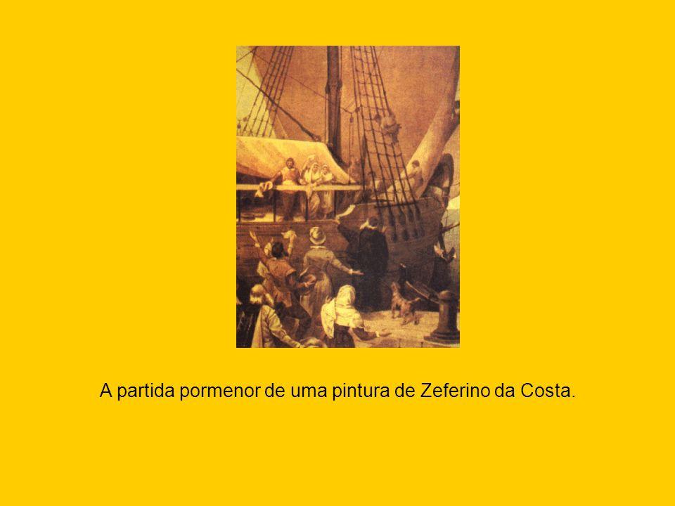 A partida pormenor de uma pintura de Zeferino da Costa.
