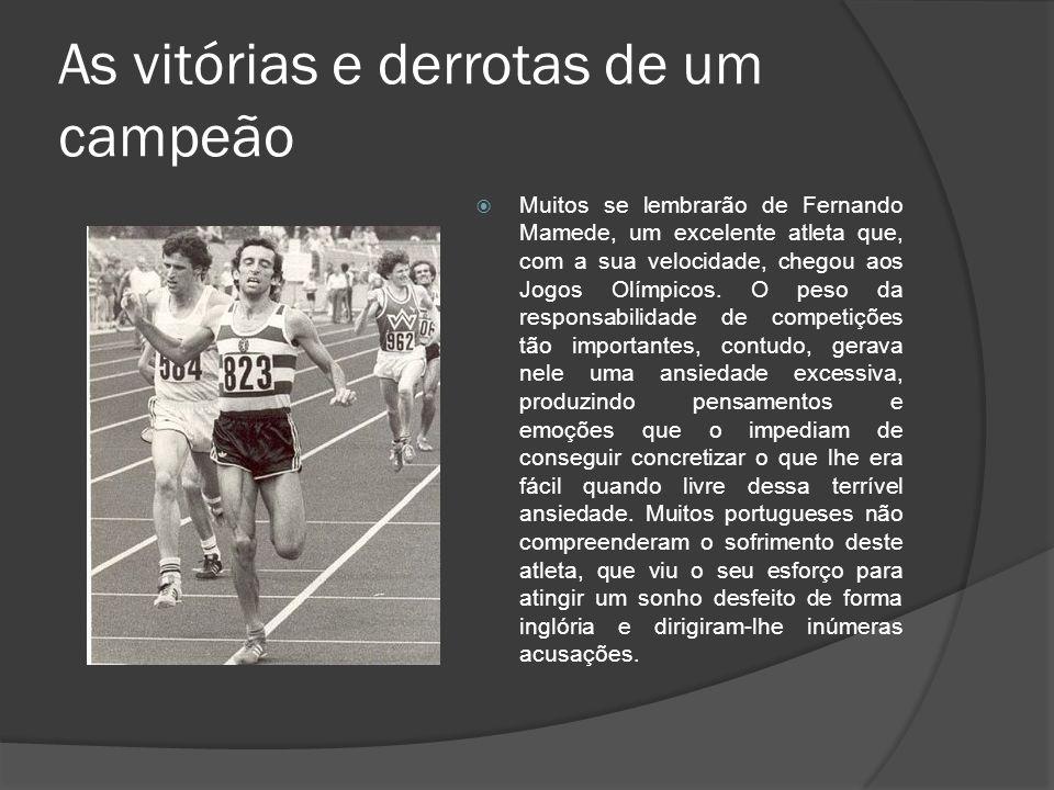 As vitórias e derrotas de um campeão Muitos se lembrarão de Fernando Mamede, um excelente atleta que, com a sua velocidade, chegou aos Jogos Olímpicos