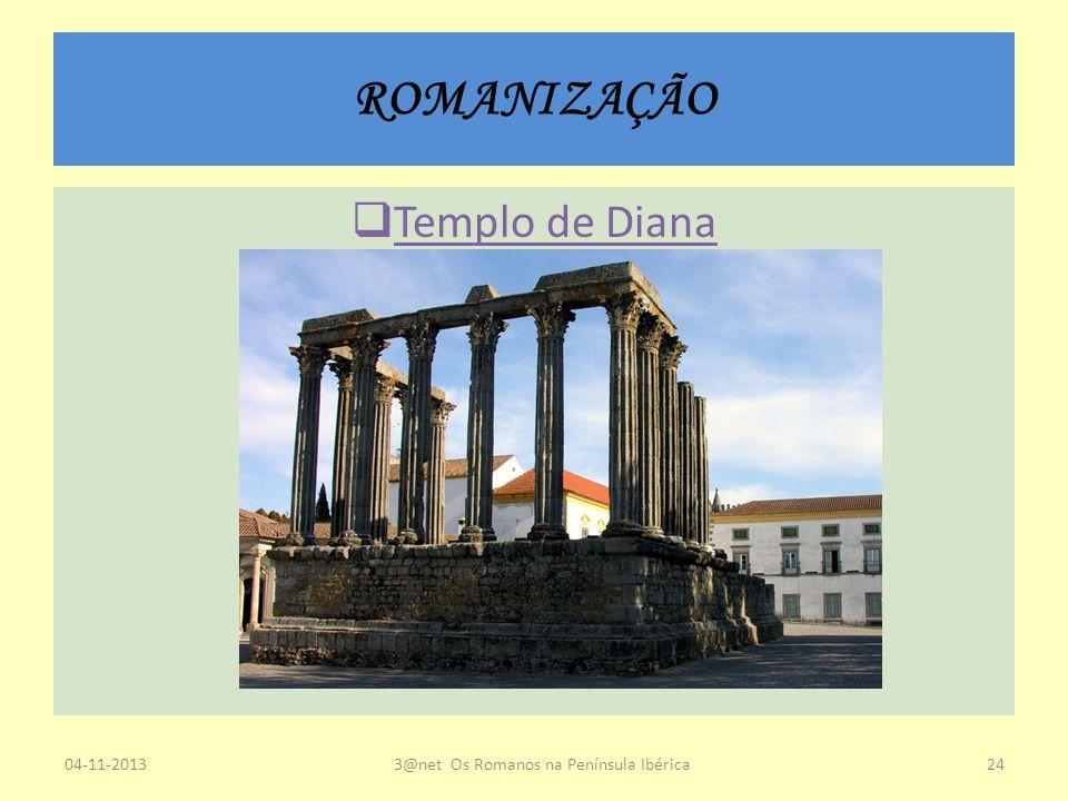 ROMANIZAÇÃO Templo de Diana 04-11-20133@net Os Romanos na Península Ibérica24