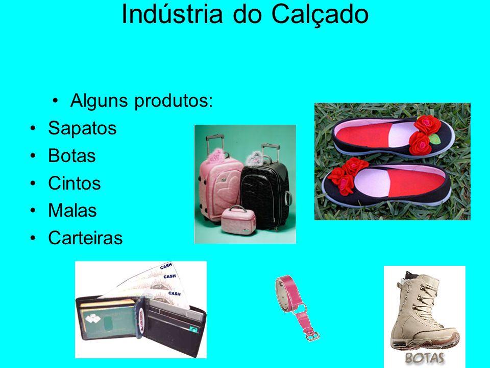 Indústria do Calçado Alguns produtos: Sapatos Botas Cintos Malas Carteiras