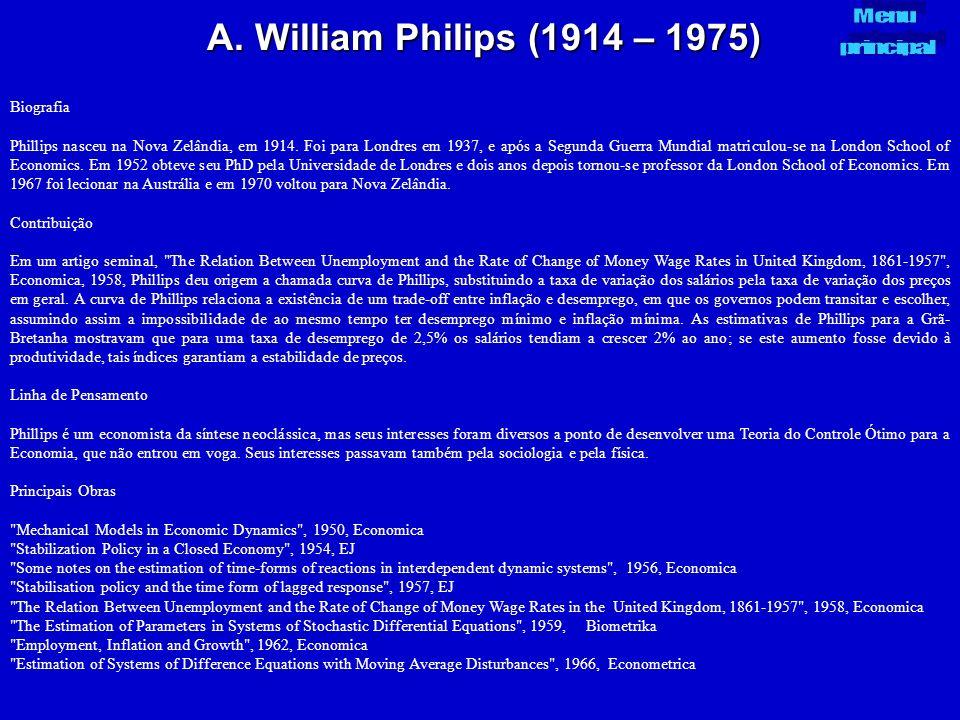 A. William Philips (1914 – 1975) Biografia Phillips nasceu na Nova Zelândia, em 1914. Foi para Londres em 1937, e após a Segunda Guerra Mundial matric