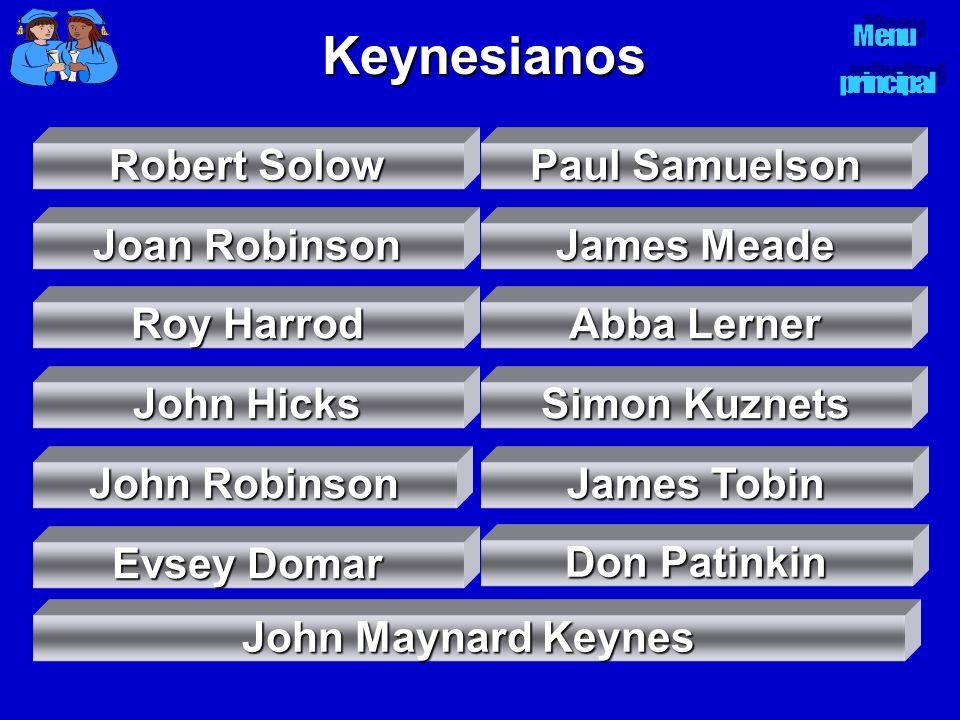 Keynesianos Robert Solow Robert Solow Paul Samuelson Paul Samuelson Joan Robinson Joan Robinson James Meade James Meade Roy Harrod Roy Harrod John Hic