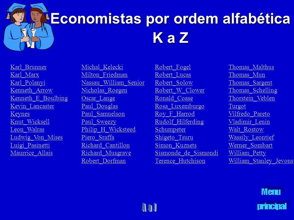 Economistas por ordem alfabética K a Z Michal_Kelecki Milton_Friedman Nassau_William_Senior Nicholas_Roegen Oscar_Lange Paul_Douglas Paul_Samuelson Pa