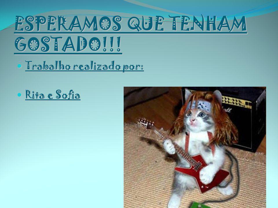 ESPERAMOS QUE TENHAM GOSTADO!!! Trabalho realizado por: Trabalho realizado por: Rita e Sofia Rita e Sofia