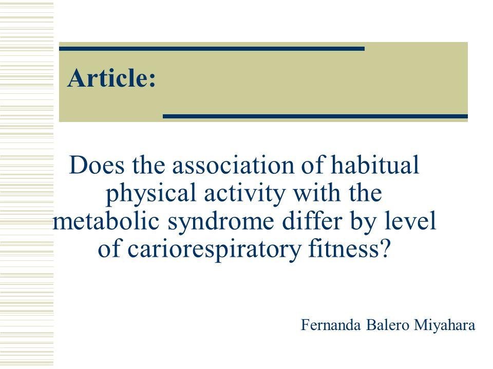 Introdução A partir do final do século passado, a doença metabólica tem emergido como uma das causas mais prevalentes de morte nos países industrializados.