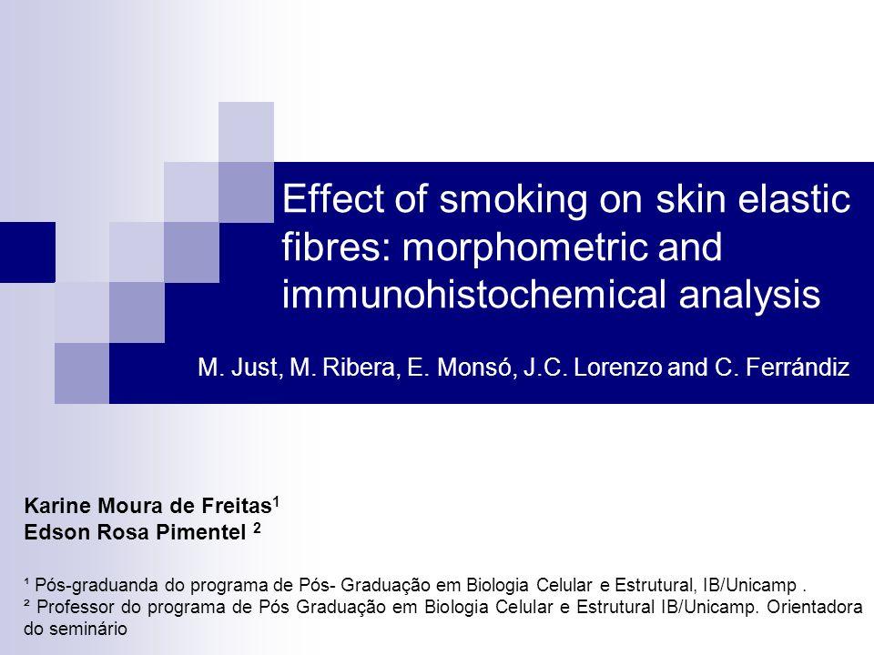 Effect of smoking on skin elastic fibres: morphometric and immunohistochemical analysis M. Just, M. Ribera, E. Monsó, J.C. Lorenzo and C. Ferrándiz Ka