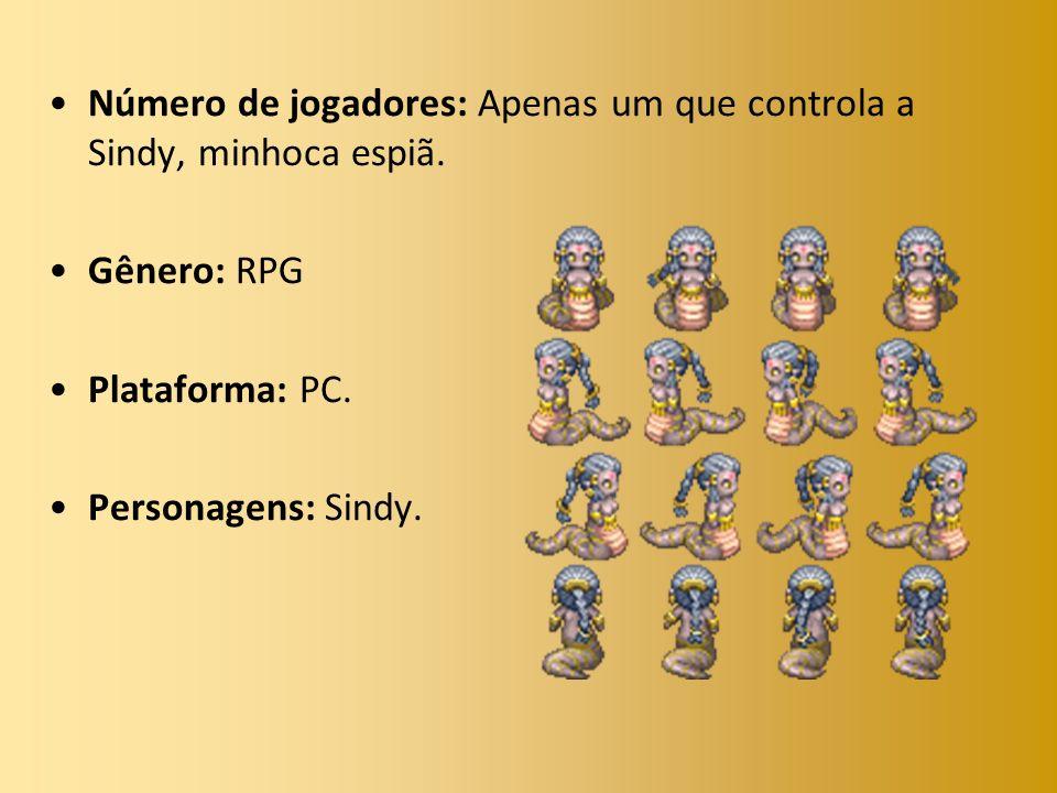 Número de jogadores: Apenas um que controla a Sindy, minhoca espiã. Gênero: RPG Plataforma: PC. Personagens: Sindy.