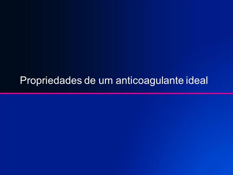 Anticoagulacão Oral Tromboembolismo com indicacão a anticoagulacão: Fibrilhacão atrial / Flutter Atrial Proteses Mecanicas(cardiacas) Proteses Biologi