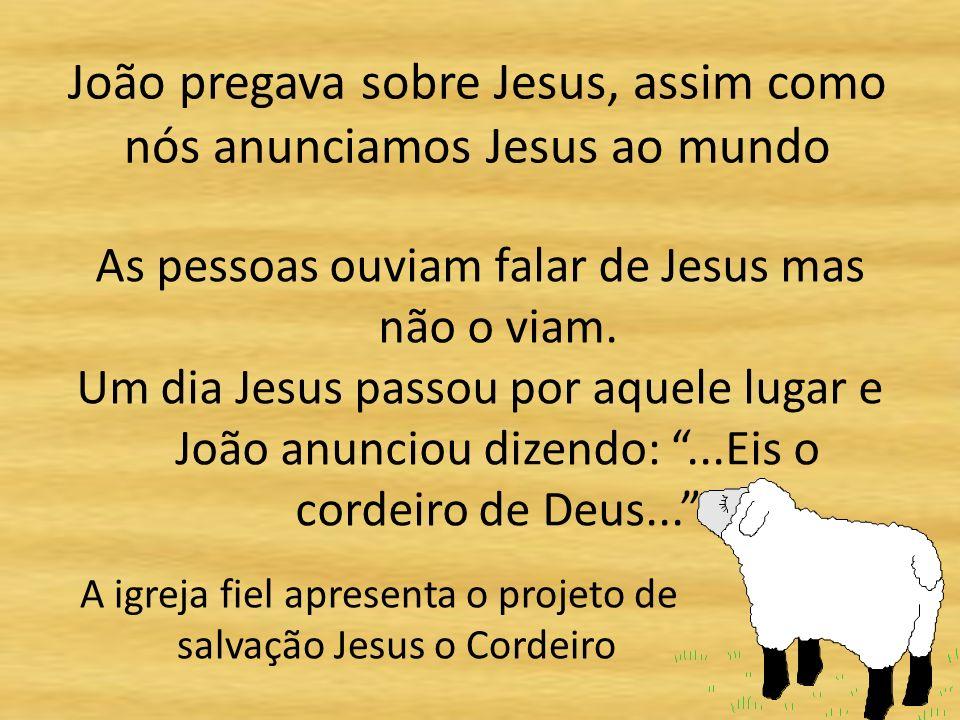João pregava sobre Jesus, assim como nós anunciamos Jesus ao mundo As pessoas ouviam falar de Jesus mas não o viam.