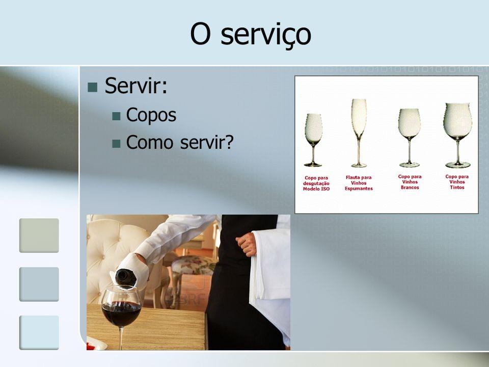 O serviço Servir: Copos Como servir?