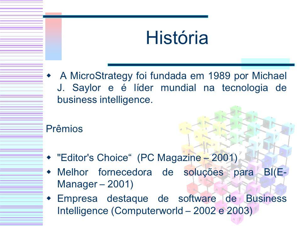 História A MicroStrategy foi fundada em 1989 por Michael J. Saylor e é líder mundial na tecnologia de business intelligence. Prêmios