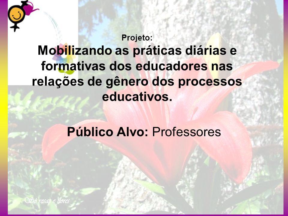 Projeto: Mobilizando as práticas diárias e formativas dos educadores nas relações de gênero dos processos educativos. Público Alvo: Professores