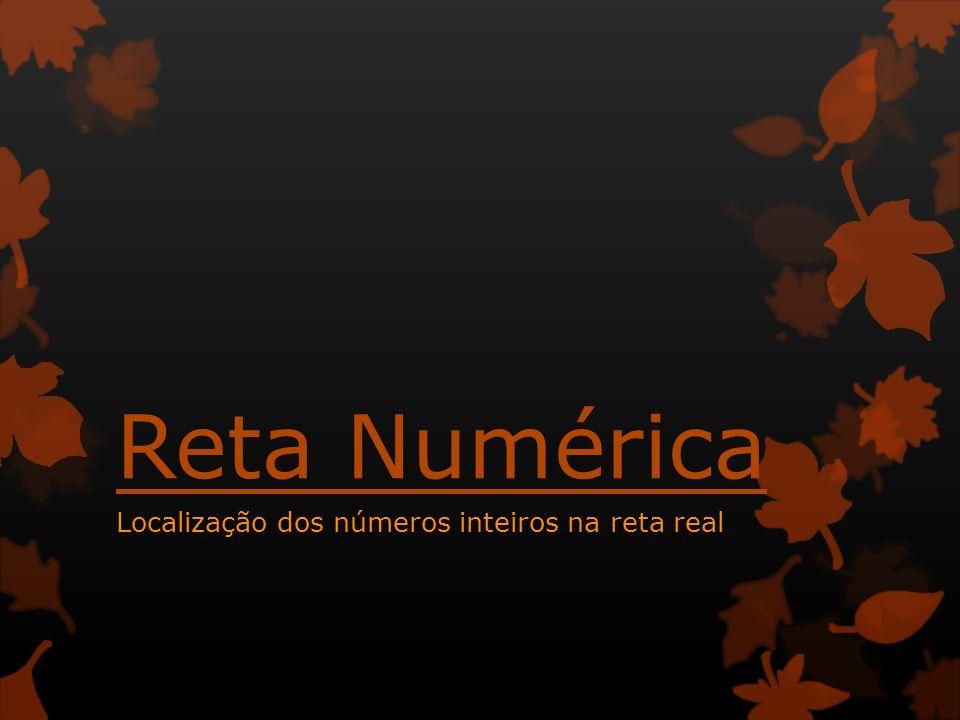 Reta Numérica Localização dos números inteiros na reta real