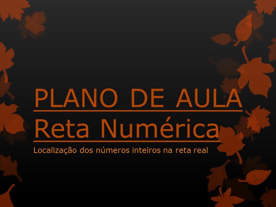 PLANO DE AULA Reta Numérica Localização dos números inteiros na reta real