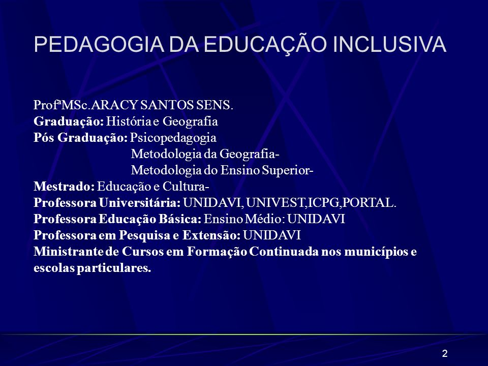 63 LEGISLAÇÃO BRASILEIRA E A INCLUSÃO.