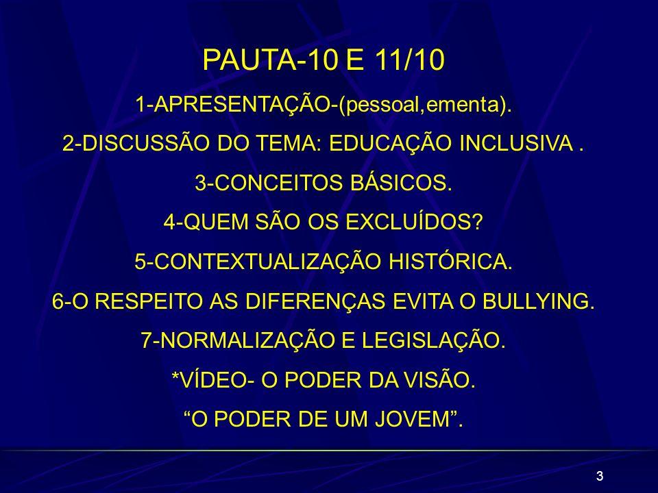 14 IMPORTANTE Aluno de inclusão:Nas escolas, todos são de inclusão.Ao se referir por ex:aluno surdo,diga aluno com (ou que tem)deficiência.