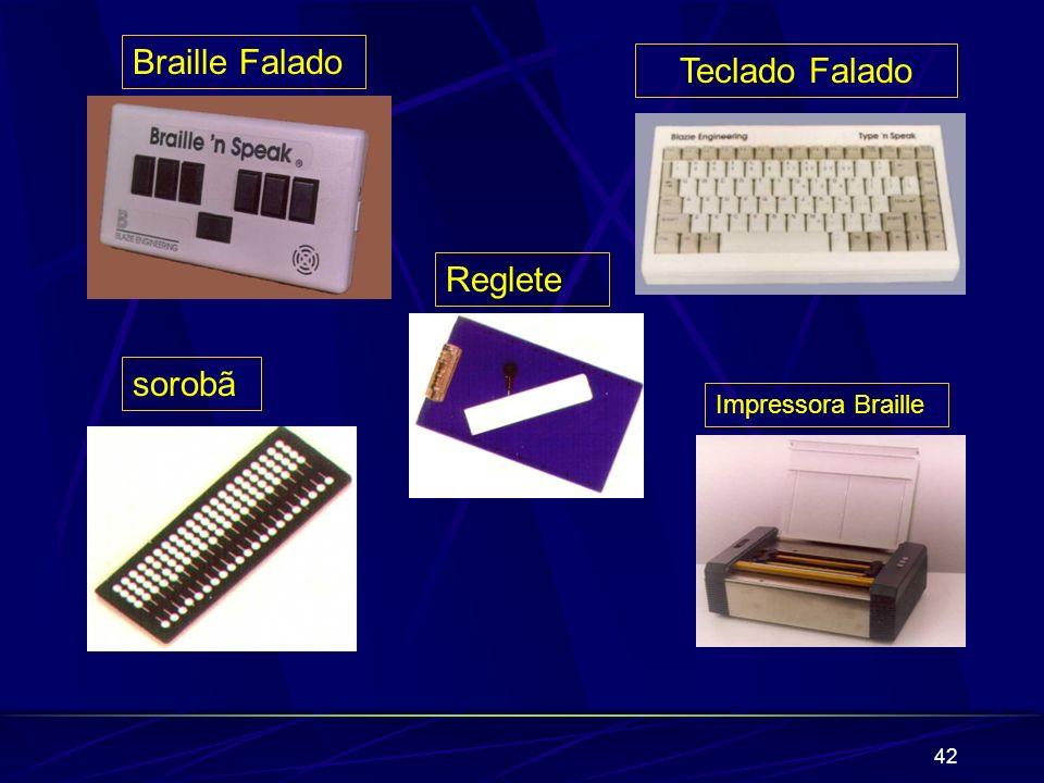 42 Braille Falado Impressora Braille Teclado Falado sorobã Reglete