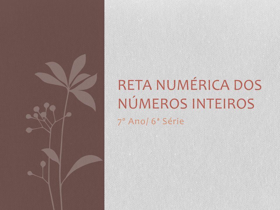 7º Ano/ 6ª Série RETA NUMÉRICA DOS NÚMEROS INTEIROS