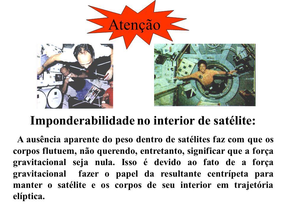 Atenção Imponderabilidade no interior de satélite: A ausência aparente do peso dentro de satélites faz com que os corpos flutuem, não querendo, entret