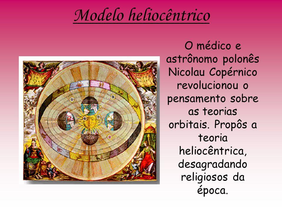 Modelo heliocêntrico O médico e astrônomo polonês Nicolau Copérnico revolucionou o pensamento sobre as teorias orbitais. Propôs a teoria heliocêntrica