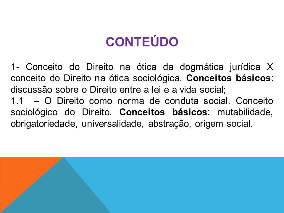CONTEÚDO 2 – Origem das normas de conduta.Conceitos básicos: fonte única ou plural das normas.