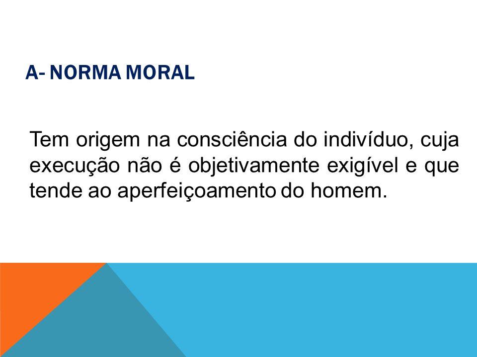B- NORMA DE TRATO SOCIAL Moral São padrões de conduta social elaboradas pela sociedade e que visam tornar o ambiente social mais ameno e harmonioso.