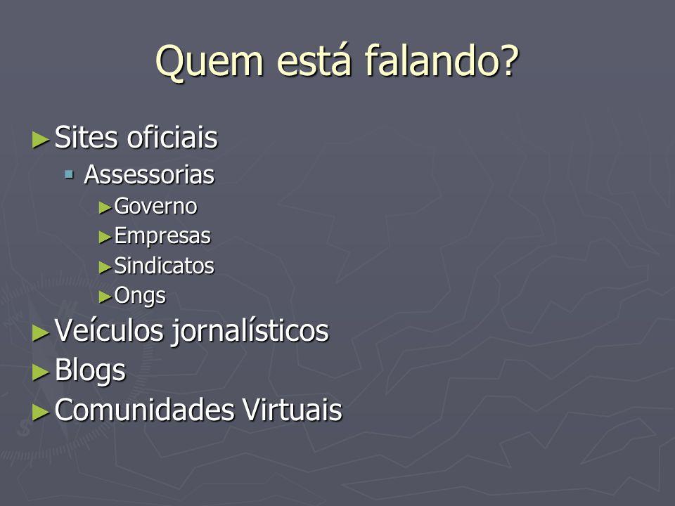 Uso de fontes on-line Aplicação 1 Aplicação 1 Você deve contatar via internet brasileiros estudando no exterior para uma entrevista, como procederia.