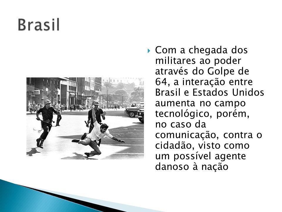 Com a chegada dos militares ao poder através do Golpe de 64, a interação entre Brasil e Estados Unidos aumenta no campo tecnológico, porém, no caso da