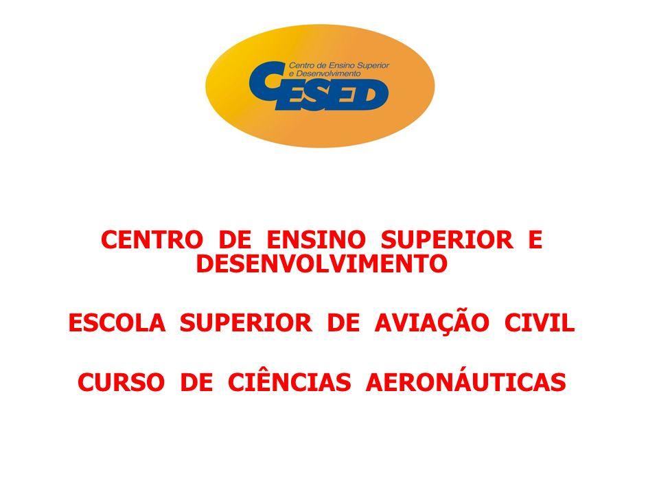 CENTRO DE ENSINO SUPERIOR E DESENVOLVIMENTO ESCOLA SUPERIOR DE AVIAÇÃO CIVIL CURSO DE CIÊNCIAS AERONÁUTICAS