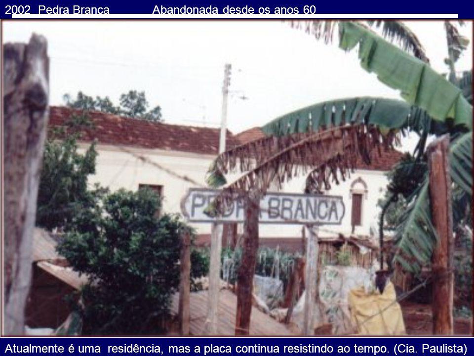 2002 PEDERNEIRAS SP Plataforma da Estação FERROBAN