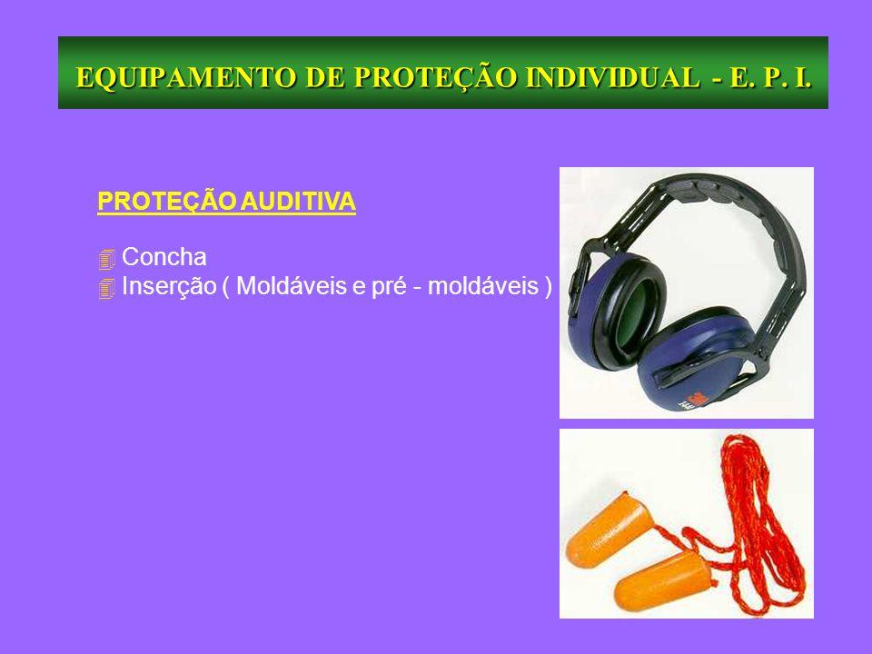 EQUIPAMENTO DE PROTEÇÃO INDIVIDUAL - E. P. I. PROTEÇÃO AUDITIVA Concha Inserção ( Moldáveis e pré - moldáveis )